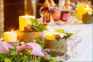 winter wonderland wedding centerpieces candle centerpieces