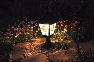 small garden light