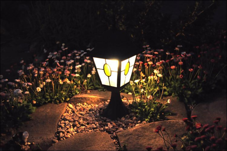 small garden light
