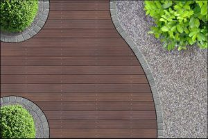 landscaping ideas with mulch and rocks geometric design