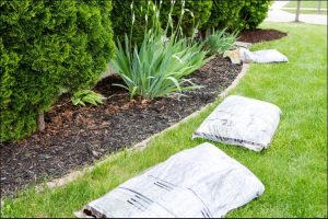 landscaping ideas with mulch and rocks side view of a mulch design