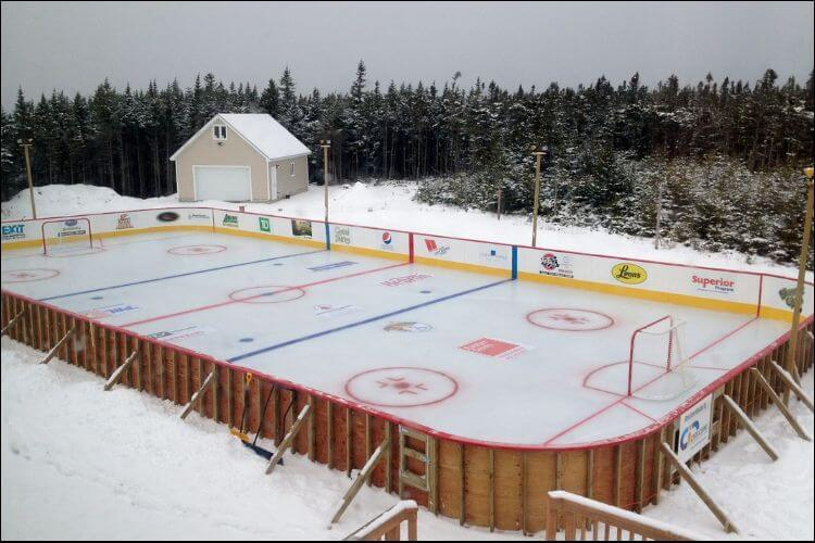 DIY ice rink set up professionally