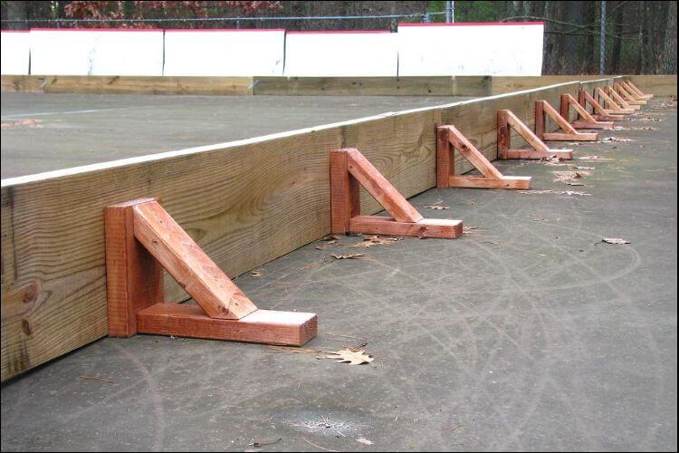 DIY ice rink supporting frame