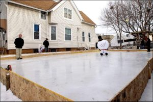 diy ice rink backyard rink