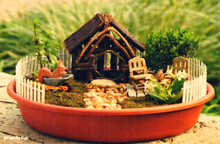 Miniature fairy house design