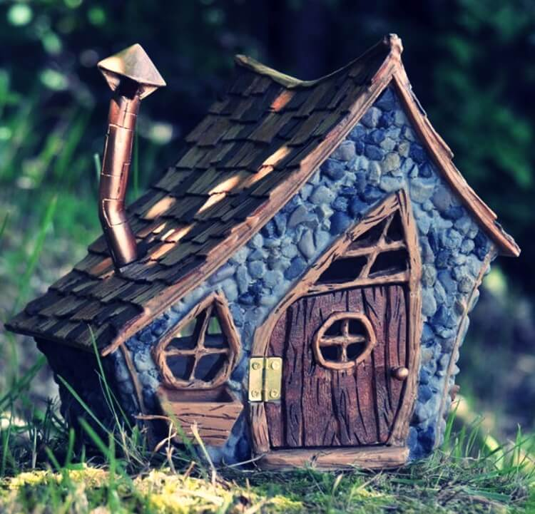 Crooked design of a fairy house