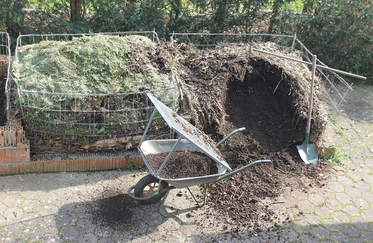 Composting holes in the garden