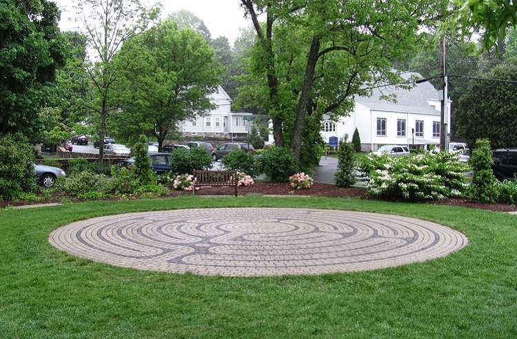Labyrinth in the courtyard of a church