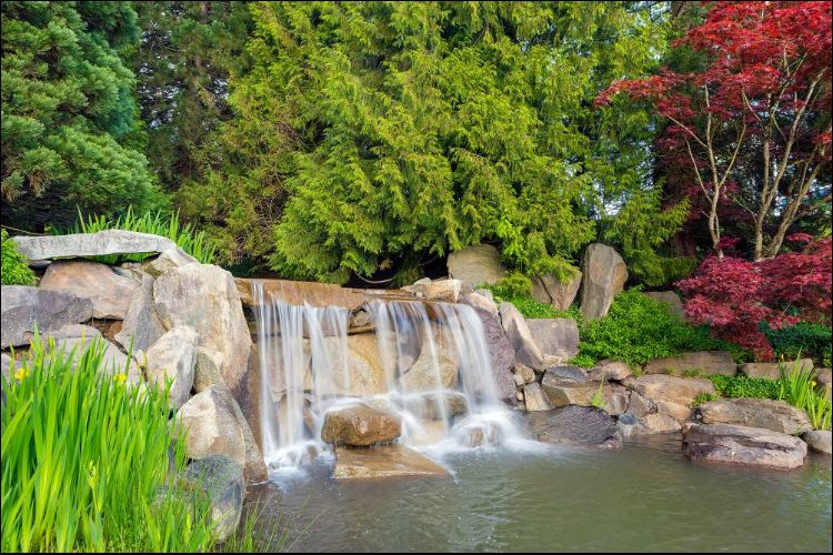 landscaping with boulders boulder waterfall