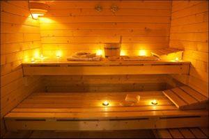 DIY outdoor sauna setup