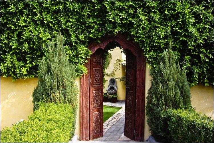 secret garden landscaping entrance