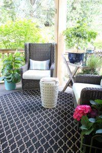 make your porch, backyard sanctuary, back porch