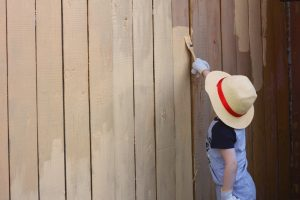 give your fence an update, paint, stain, fence
