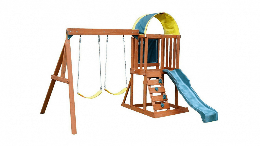 Backyard Playset Reviews big backyard andorra swing set playset review