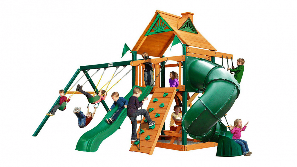 Swing-N-Slide Mountaineer Cedar Play and Swing Set