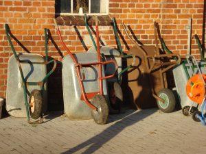 old wheelbarrow