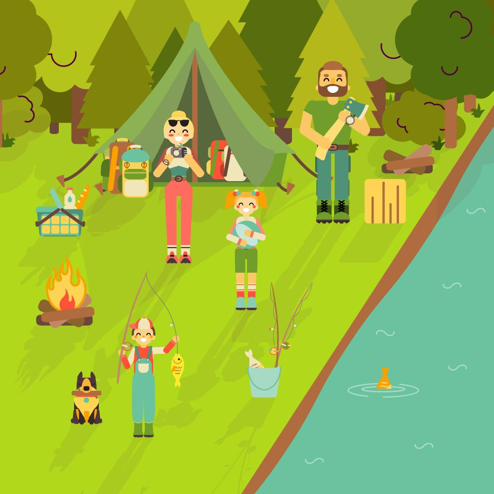 camping with kids, camping, camping tips, camping trip, family activity