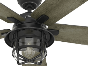 "Hunter Fan 54"" Weathered Zinc Outdoor Ceiling Fan"