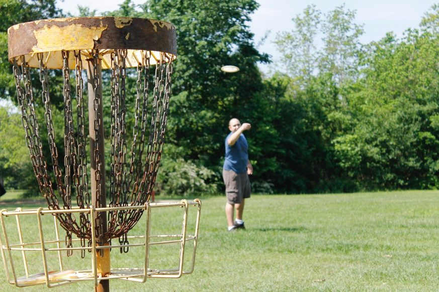 diy disc golf basket