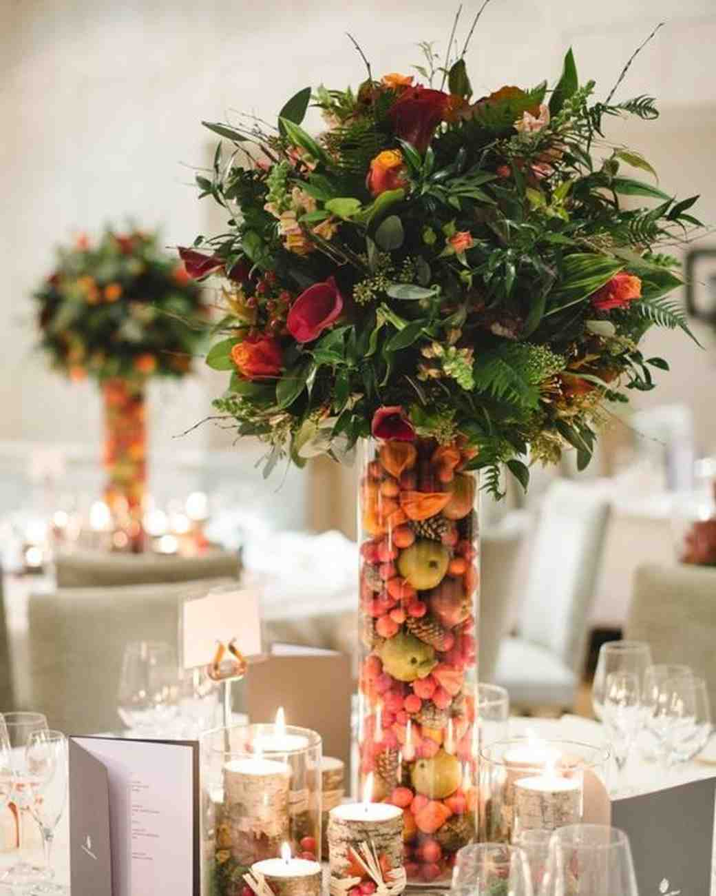 Amazing Fall Wedding Centerpieces for You to Use on Your Big Day
