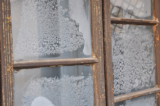 frost on windows, defrost, double-paned, ice