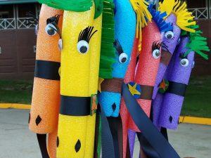 DIY pool noodle crafts, kids, fun