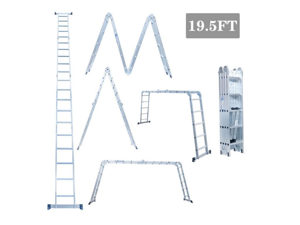 Heavy Duty Giant Aluminum Multi Purpose Folding Ladder Review