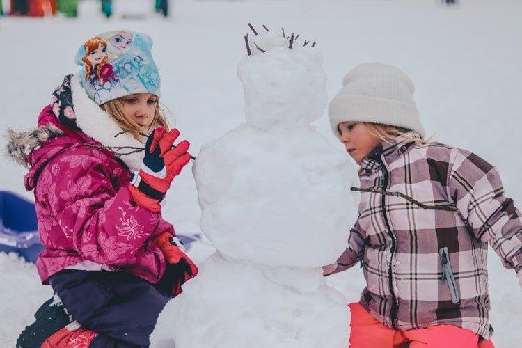 snowman, snowball, snow, fun