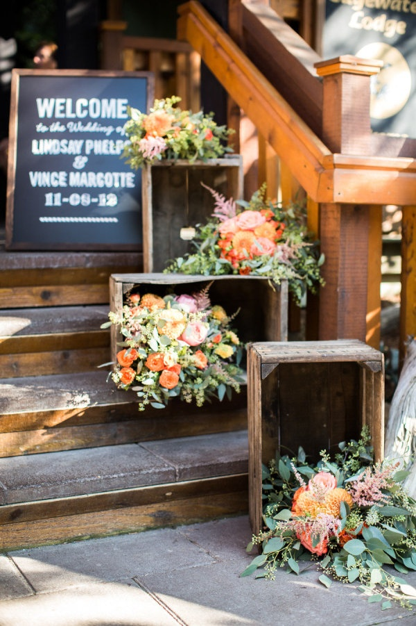 Beautiful Ways To Use Wooden Crates At Your Wedding