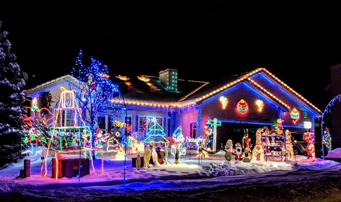 ... Christmas light show. Image ... - How To Make A Christmas Light Show In Your Yard