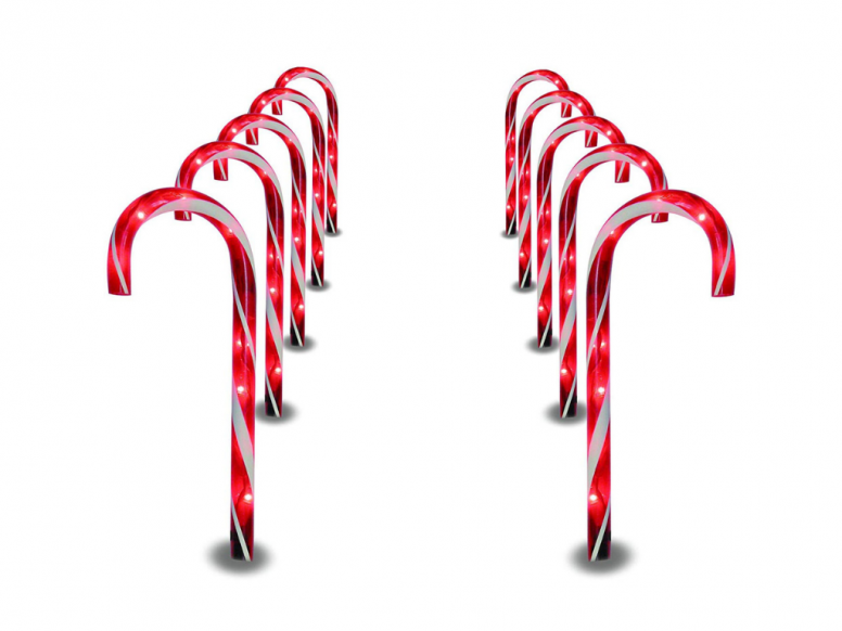 candy cane pathway markers