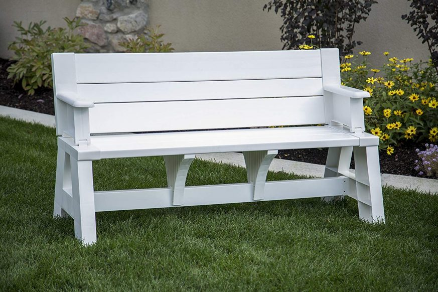 convert a bench, a bench, bench com, plastic bench that turns into a picnic table, convert a bench cushions, premiere products 5rcat resin convert a bench, bench to table conversion, plastic convertible bench picnic table, convert picnic table, premiere products, convert-a-bench