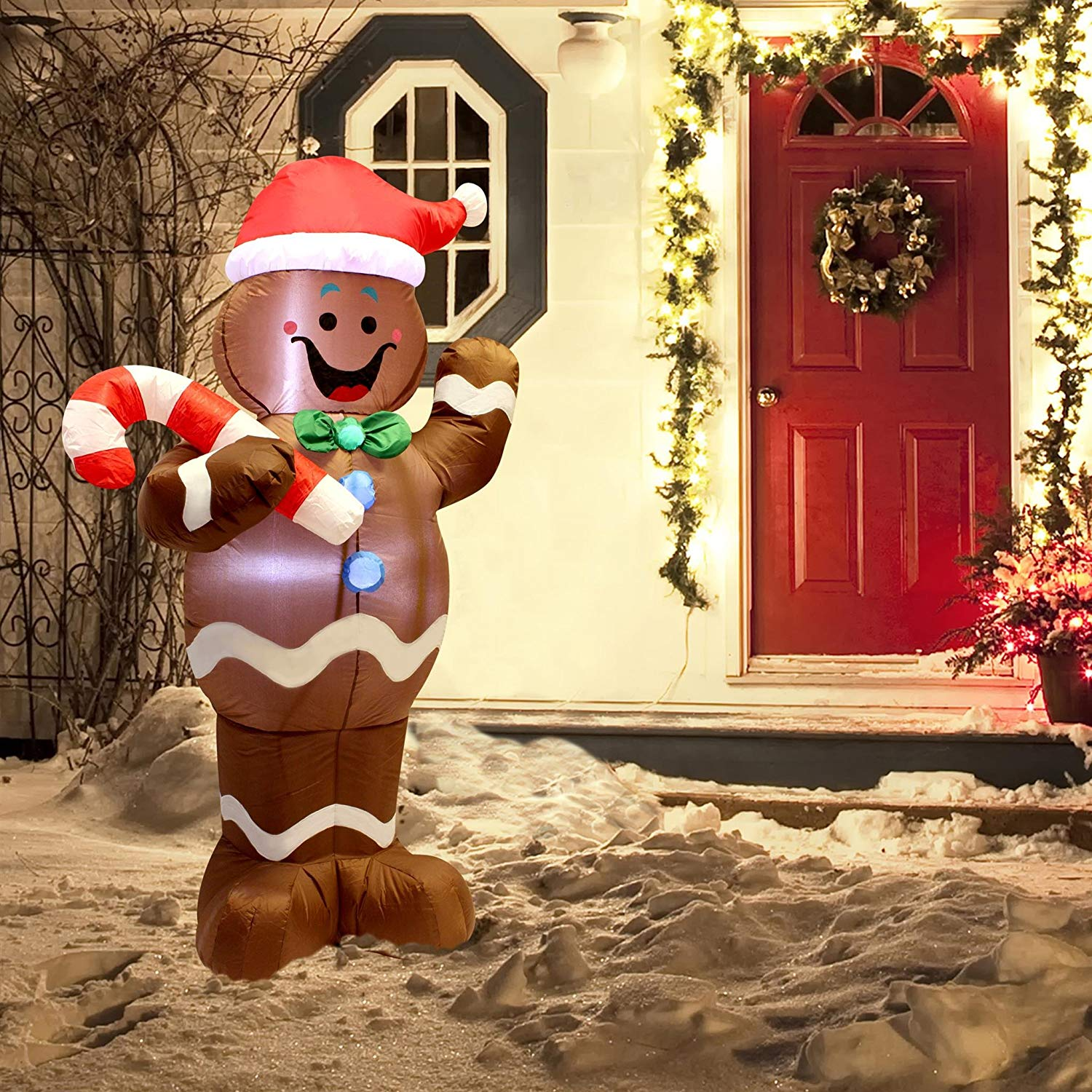 inflatable gingerbread man