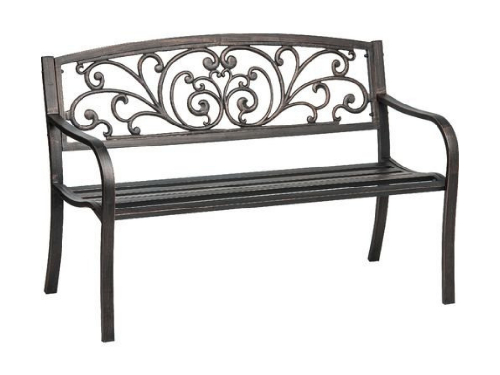 Mosaic Cast Iron Outdoor Patio Bench Review on Outdoor Living Iron Mosaic id=33294