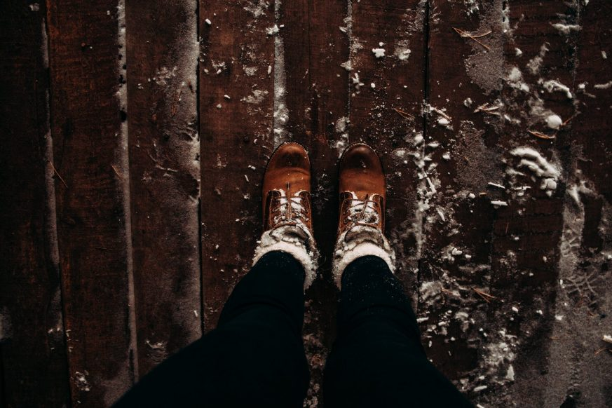 slippery floors, Winter, water